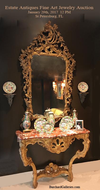 Antique Chandeliers For Sale >> !antique Auction Calendar - Burchard Galleries