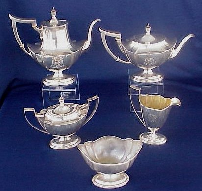 Vintage Alfred Meakin Coffee Set 4x Cups & Saucers Pottery, Porcelain & Glass Coffee Pot Yellow Brown Sturdy Construction